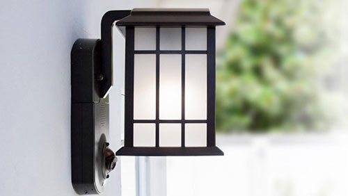 Full-service home security in a smart light fixture