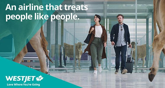 WestJet launches innovative advertising/marketing campaign