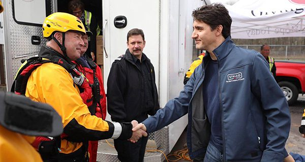 Only Trudeau could cause a PR nightmare while joining a relief effort