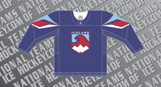 Iceland Falsons hockey jersey