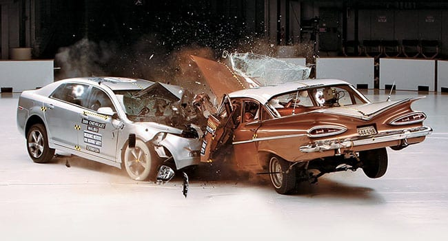 Bel Air vs Malibu crash test