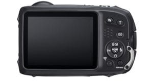 The FujiFilm FinePix XP140 has a large viewfinder and has a water-proof, shock-proof and freeze-proof body