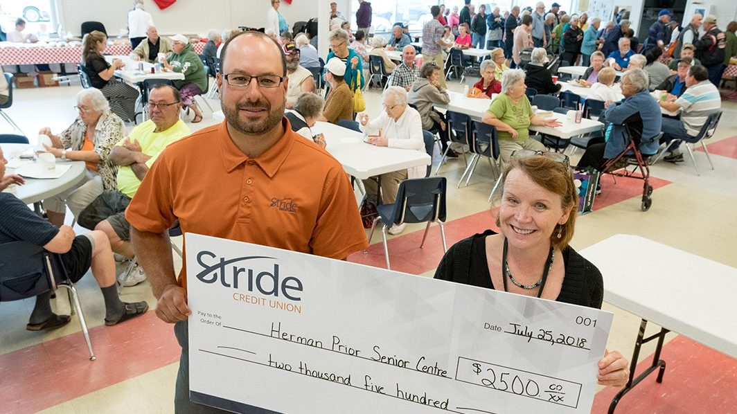 Stride Credit Union donates $2,500 to Herman Prior Activity Centre