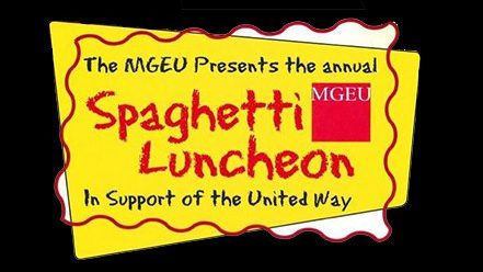 MGEU spaghetti lunch to support United way this Wednesday