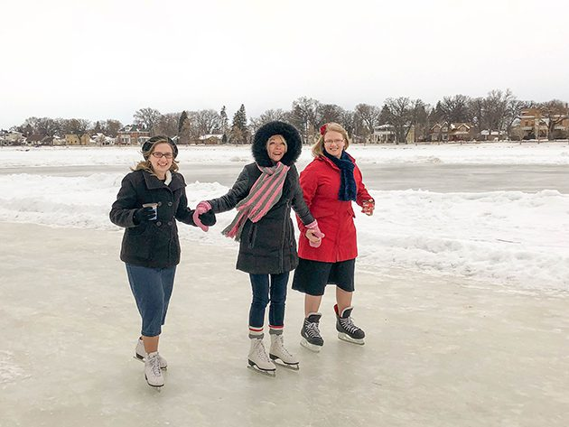 Portage residents brave cold weather to skate with MP