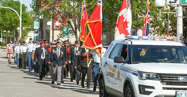 March to Portage cenotaph honours military sacrifice