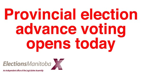 Advance voting opens today