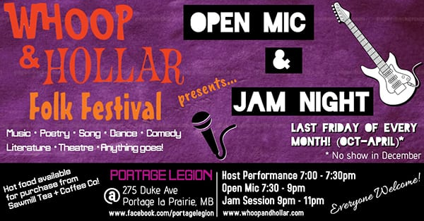 The Whoop & Hollar Open Mic and Jam Night returns tonight for its third season