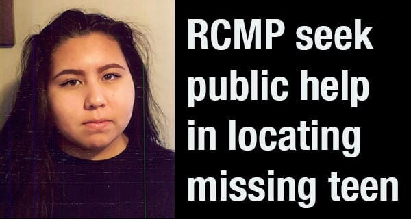 Portage la Prairie RCMP searching for missing teen