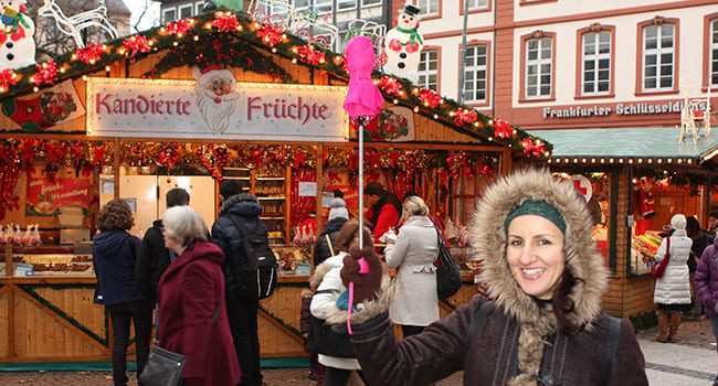 Tour guide at Frankfurt Christmas market