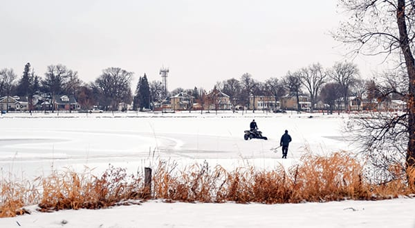 The weather outside is frightful, almost time to grab your skates and head to the lake