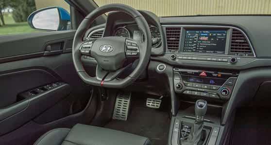 Things that distinguish the Hyundai Elantra GT N Line include a tasteful leather interior, with well-designed front seats. There are heated and ventilated front seats and a heated steering wheel