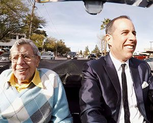 One of Jerry Lewis's last public performances was the finale of season 10 of Comedians in Cars Getting Coffee. He passed away just months after taping