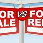 For sales versus for rent sign